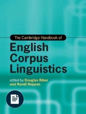 Cambridge Handbooks In Language And Linguistics Douglas Biber Randi Reppen The Cambridge Handbook Of English C Linguistics Cambridge University Press Corpus