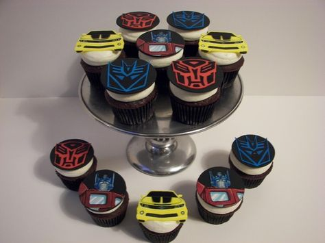Transformer Cupcake Toppers by deathbycupcake on Etsy, $36.00