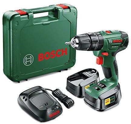 Bosch Psb 1800 Li 2 Cordless Combi Drill With Two 18 V Lithium Ion Batteries Amazon Co Uk Diy Tools Bosch Cordless Drill Drill Driver 18v Cordless Dr