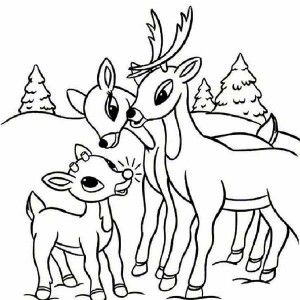 Clarice Kiss Rudolph The Red Nosed Reindeer Coloring Page Clarice Kiss Rudolph The Red Nosed R Deer Coloring Pages Rudolph Coloring Pages Santa Coloring Pages
