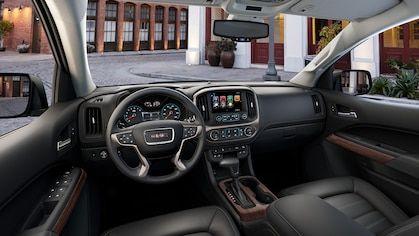 Interior Image Of The 2018 Canyon Denali Small Luxury Pickup Truck Pickup Trucks Small Pickup Trucks Gmc Canyon