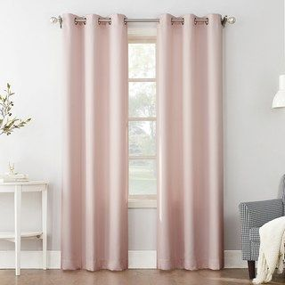 The Big One 2 Pack Decorative Solid Window Curtains Jordyn