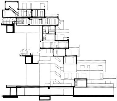 Habitat 67 Moshe Safdie Quebec 1967 Tipologia Agrupada Image Floor Plans Diagram