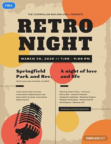 Vintage Concert Poster Template Free Pdf Psd Apple Pages Illustrator Vintage Concert Posters Concert Posters Poster Template Free