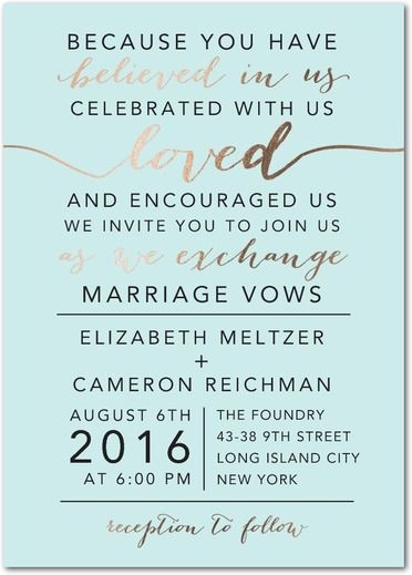17 best images about vows on pinterest we are together wedding elegant exchange signature foil wedding invitations east six design white front stopboris Image collections