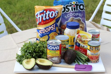 seven layer bean dip - with a secret ingredient!