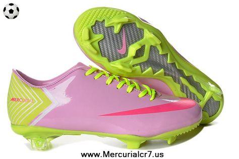 ccc438aab Pink Red Green Nike Mercurial Vapor X FG Football Boots