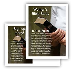 Church Art Postcard Template For Women S Bible Study Or Any