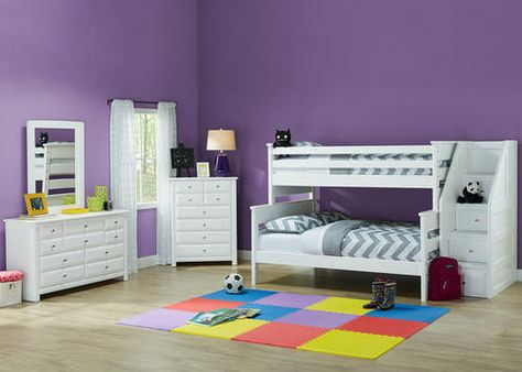 Our Catalina Twin Full Bunk Bed With Match Staircase Kid S Corner