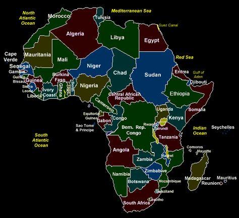 Afrikan Kartta Africa Map Africa African