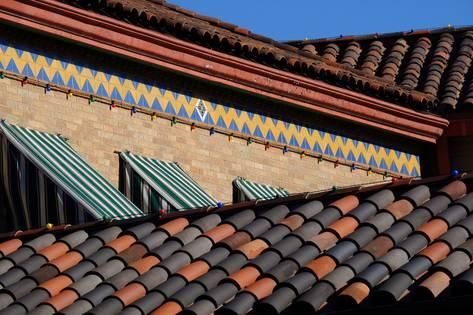A Brick And Tile Pattern Near A Tile Roof Influenced By Their Sister City Seville Spain Photographic Print Paul Damien Art Com Tile Patterns Sister Cities Brick