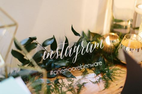 Wedding Hashtag Sign Acrylic Instagram Sign Lucite Instagram Sign