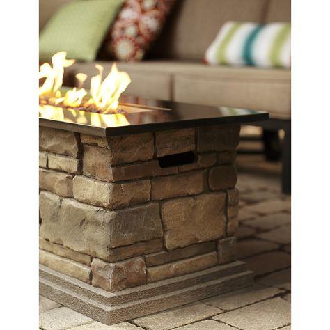 Shop Bond Canyon Ridge 20 In W 50 000 Btu Stone Look Composite