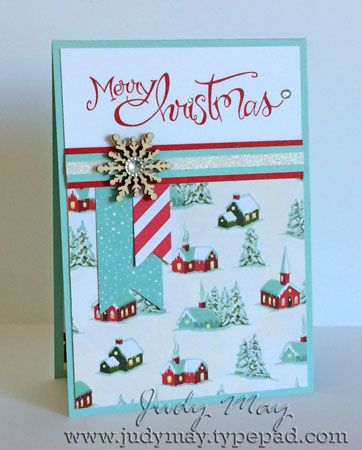 Quick Christmas Cards (Just Judy Designs) Chrismas Cards, Stamped Christmas Cards, Simple Christmas Cards, Homemade Christmas Cards, Xmas Cards, Homemade Cards, Holiday Cards, Merry Christmas, Winter Cards