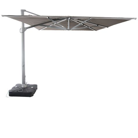 Sunrise 3 x 4m Cantilever Parasol Taupe With LED Lights