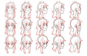 Head Angles By Flipfloppery Anime Head How To Draw Hair Head Angles