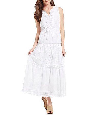 3b217809e70 Reba Embellished Tiered Maxi Dress  Dillards