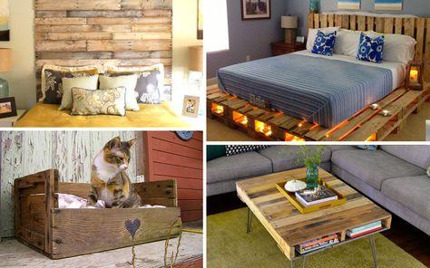 Idee Creative Casa : Riciclo dei pallet idee per creare mobili con bancali per casa