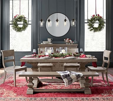 Banks Extending Dining Table Gray Wash Farmhouse Dining Rooms Decor Dining Room Small Farmhouse Dining Room