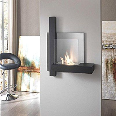 Stones Bioethanol Wall Fireplace With Bio Ethanol Fireplace Metal Black Amazon Co Uk Kitchen Home With Images Home Fireplace Home Decor