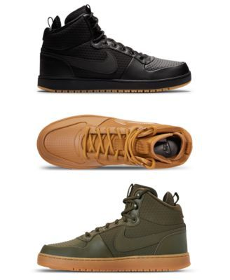 Men S Ebernon Mid Winter Casual Sneakers From Finish Line Discount Nike Shoes Casual Sneakers Sneakers