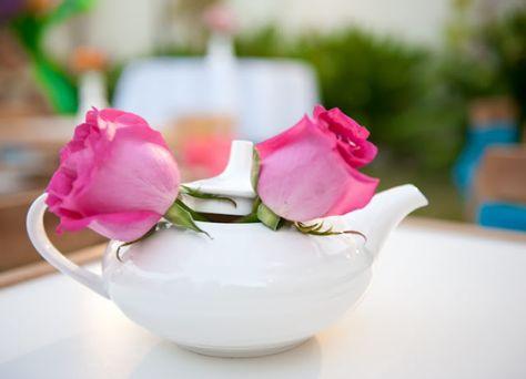 Flowers in Tea Pots