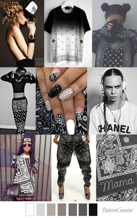 Recupera las bandanas para la tendencia GIRL GANG #coolhunting #moda #tendencias #bandana