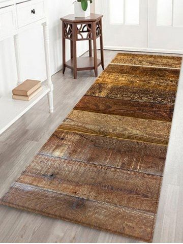 Uhommi Wood Planks Print Non Slip Floor Rug Floor Rugs Wood Planks Rugs