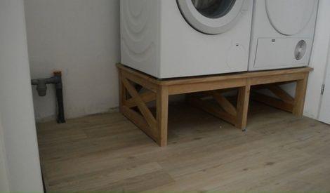 Meuble Machine A Laver Et Seche Linge Par Mathieudavid Meuble Machine A Laver Machine A Laver Et Seche Linge Idee Deco Buanderie