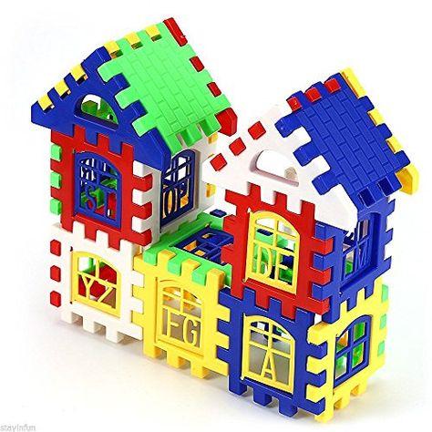 24PCS DIY House Building Blocks Construction Brain Development Education Toy UK