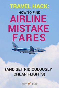 Airlines can make several cost-cutting errors, from mis-converting between currencies to mistakes when entering prices. Here's an EASY guide on how to find these mistake fares & save BIG on your next flight! #budgettravel #flights