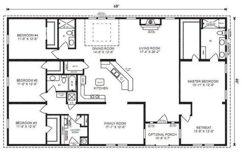 House Plans One Story 3000 Sq Ft Bedrooms 26 Ideas For 2019 Loft Floor Plans Rectangle House Plans House Layout Plans