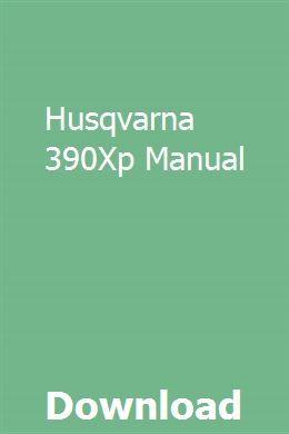 Husqvarna 390Xp Manual   myostagomclen