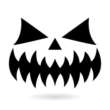 Scary Halloween Pumpkin Face Vector Design Ghost Or Monster Scary Halloween Pumpkins Spooky Eyes Scary Drawings