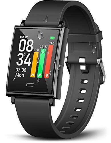 Winisok Smartwatch Fitness Armband Fitness Uhr Mit Blutdruckmessung Pulsmesser Ip68 Wasserdicht Fitness Tracker Sportuhr In 2020 Fitness Armband Smartwatch Fitness Uhr