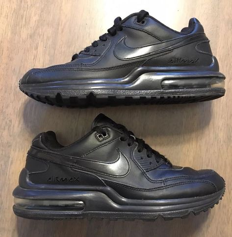 NIKE BOYS AIR MAX WRIGHT LTD sz 6 (GS) RUNNING SHOES BLACK