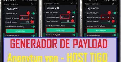 Configurar Generador De Payload Anonytun Vpn Apk Tigo Host En 2020