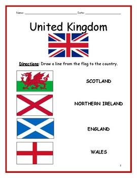United Kingdom Printable Handout With Map And Flag United Kingdom United Kingdom Flag The Unit