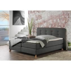 Lonni Box Spring Bed Including Led Lighting Material Imitation