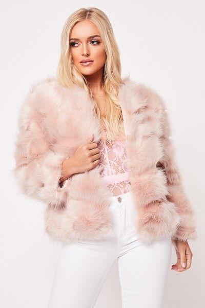 Hollie Pink Faux Fur CCoat