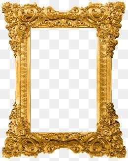 Gold Pattern Dividing Line Golden Pattern Shading Png And Vector With Transparent Background For Free Download Gold Picture Frames Antique Frames Gold Frame