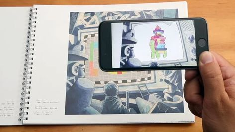 Prosthetic Reality is an Augmented Reality Art book.  The book is paired with the EyeJack iOS and Android app to allow each artwork to come to life with animation and sound.  Visit www.eyejackapp.com for more details.  The project has been created in collaboration between artist Sutu, Code on Canvas and 45 artists and sound designers from around the world.