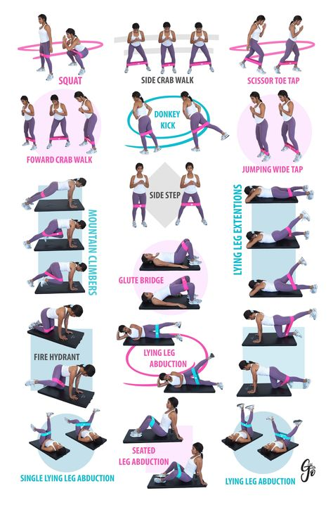 Excersise Band Workout, Leg Workout With Bands, Leg Workout At Home, Gym Workout Tips, Fitness Workout For Women, Fitness Workouts, Workout Videos, At Home Workouts, Glute Workouts