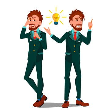 Solution Concept Vector Businessman Solution Of The Problem Success Strategy Brainstorming Find Way Out Great Idea Promotion Different Directions Flat Cartoon I Cartoon Illustration Illustration Cartoons Vector
