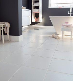 Carrelage De Sol Interieur Gres Cerame Emaille Monzie Blanc 30 X 30 Cm Ep 8 5 Mm Brico Depot Tile Floor Ceramic Floor Flooring