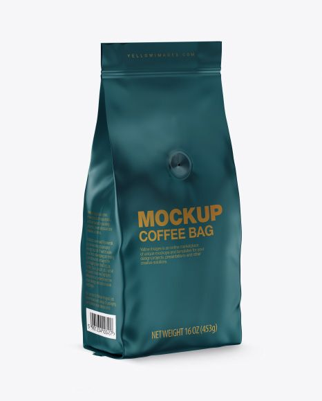 Download Matte Coffee Bag With Valve Mockup Half Side View In Bag Sack Mockups On Yellow Images Object Mockups Mockup Free Psd Mockup Psd Mockup