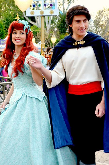 Princess Ariel and Prince Eric the little mermaid