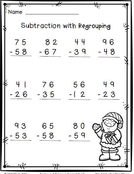 Winter Math for 2nd Grade--2-digit addition and subtraction ...