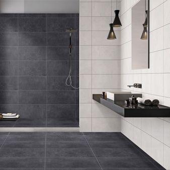 Traffic Anthracite Polished 600x300mm Polished Porcelain Wall Floor Tile By Gemini Big Bathrooms Tile Floor Bathroom Wall Tile