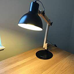 Tomons Scandinavian Swing Arm Wood Desk Lamp Table Lamp Led Bulb Included Black Amazon Co Uk Lighting Lamp Desk Lamp Table Lamp